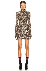 VETEMENTS The Styling Dress in Leopard   FWRD at Forward