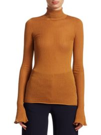 VICTORIA BECKHAM - RIB KNIT TURTLENECK at Saks Fifth Avenue