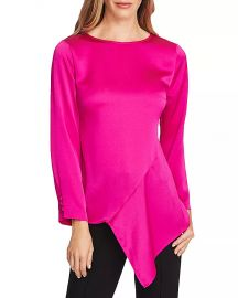 VINCE CAMUTO Hammered Satin Blouse - 100  Exclusive Women - Bloomingdale s at Bloomingdales
