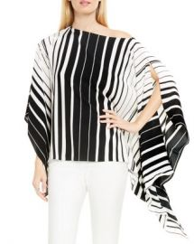 VINCE CAMUTO Accordion Stripe Poncho Top Women - Bloomingdale s at Bloomingdales