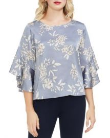 VINCE CAMUTO Etched Bouquet Bell Sleeve Top Women - Bloomingdale s at Bloomingdales