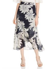 VINCE CAMUTO Floral-Print Midi Wrap Skirt - 100  Exclusive Women - Bloomingdale s at Bloomingdales