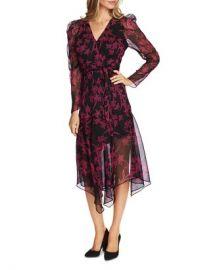 VINCE CAMUTO Floral-Print Wrap Dress Women - Bloomingdale s at Bloomingdales