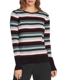 VINCE CAMUTO Striped Crewneck Sweater Women - Bloomingdale s at Bloomingdales