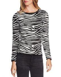 VINCE CAMUTO Zebra Jacquard Knit Sweater - 100  Exclusive Women - Bloomingdale s at Bloomingdales