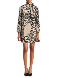 Valentino Tiger Print Tunic Dress at Saks Fifth Avenue