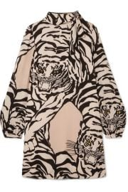 Valentino Tiger Print Tunic Dress at Net A Porter