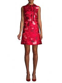 Valentino - Amour Printed Shift Dress at Saks Off 5th
