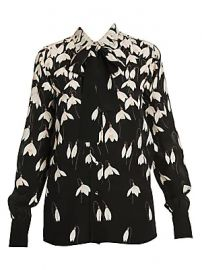 Valentino - Bucaneve Silk Blouse with Removable Necktie at Saks Fifth Avenue