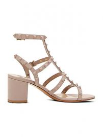 Valentino - Valentino Garavani Rockstud Tonal Leather Cage Sandals at Saks Fifth Avenue