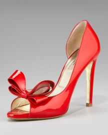 Valentino Couture Bow dOrsay Pump at Neiman Marcus