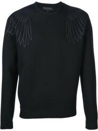 Valentino Eagle Print Sweatshirt at Farfetch