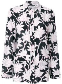 Valentino Floral Pyjama Style Top at Farfetch