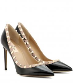 Valentino Garavani Rockstud patent leather pumps at Mytheresa