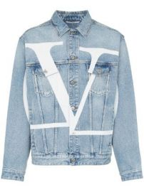 Valentino Large logo denim jacket Large logo denim jacket at Farfetch
