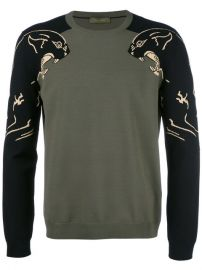 Valentino Panther Intarsia Jumper at Farfetch