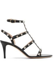 Valentino Rockstud leather sandals at Net A Porter