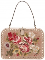 Valentino rock stud embroidered bag at Farfetch