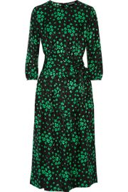 Vanessa Seward Aurore printed silk-jacquard midi dress at Net A Porter