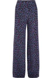 Vanessa Seward Emmanuelle leopard-print silk crepe de chine wide-leg pants at Net A Porter