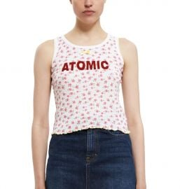 Vanna Youngstein Atomic Tank in Red Floral at Opening Ceremony