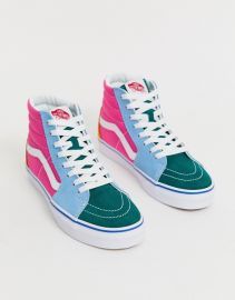 Vans SK8-Hi frayed color block sneakers   ASOS at Asos