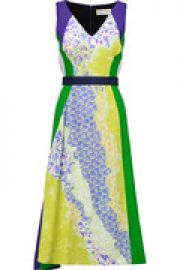 Vapor belted printed crepe midi dress at The Outnet