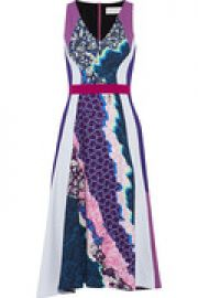 Vapor printed stretch-crepe dress at The Outnet