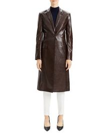 Varnished Leather Coat by Theory at Bloomingdales
