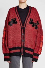 Varsity Cardigan with Wool at Stylebop