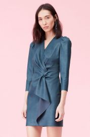 Vegan Leather Wrap Dress at Rebecca Taylor