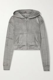 Velour hoodie at Net a Porter