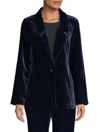 Velvet Draped Jacket at Saks Fifth Avenue