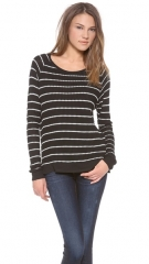 Velvet Becky Striped Thermal Sweater at Shopbop