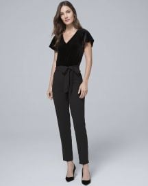 Velvet Bodice Black Jumpsuit at WHBM