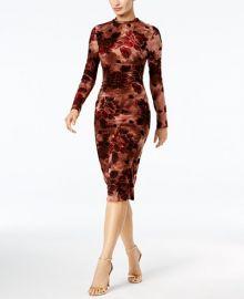 Velvet-Flocked Printed Midi Dress by Endless Rose at Macys