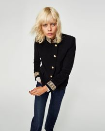 Velvet Jacket with Passementerie by Zara at Zara