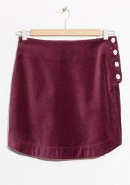 Velvet Mini Skirt at & Other Stories