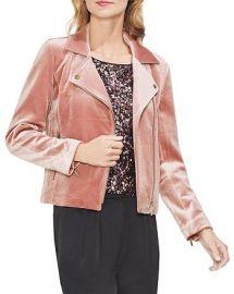 Velvet Moto Jacket at Bloomingdales