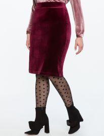 Velvet Pencil Skirt by Eloquii at Eloquii