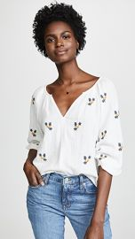 Velvet Selma Embroidered Blouse at Shopbop