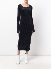 Velvet Style Ribbed Dress by Helmut Lang at Farfetch