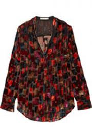 Velvet and organza shirt at The Outnet
