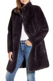 Velvet by Graham & Spencer Reversible Faux Shearling Coat at Nordstrom