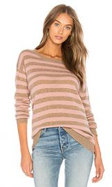 Velvet by Graham  amp  Spencer Cath Striped Sweater in Posey  amp  Camel from Revolve com at Revolve