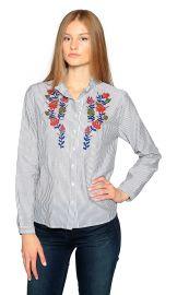 Velvet by Graham  amp  Spencer Kaidy Embroidered Stripe Mock Neck Shirt at Amazon