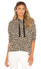 Velvet by Graham  amp  Spencer Kassidy Hoodie in Leopard from Revolve com at Revolve