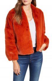 Velvet by Graham  amp  Spencer Lux Faux Fur Jacket   Nordstrom at Nordstrom
