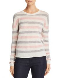Velvet by Graham  amp  Spencer Striped Crewneck Sweater - 100  Exclusive  Women - Bloomingdale s at Bloomingdales