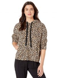 Velvet by Graham  amp  Spencer Women s Kassidy Leopard Fleece Sweater at Amazon